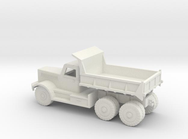 1/120 Diamond Dump Truck in White Strong & Flexible