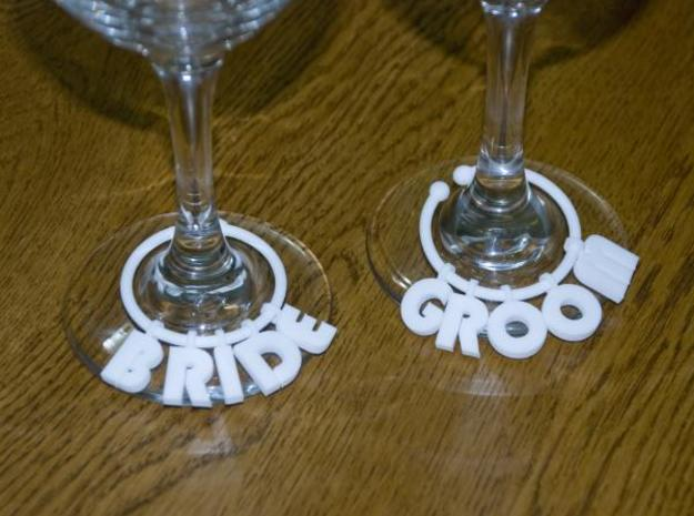 Glass Charm 3 Rings 3d printed Description