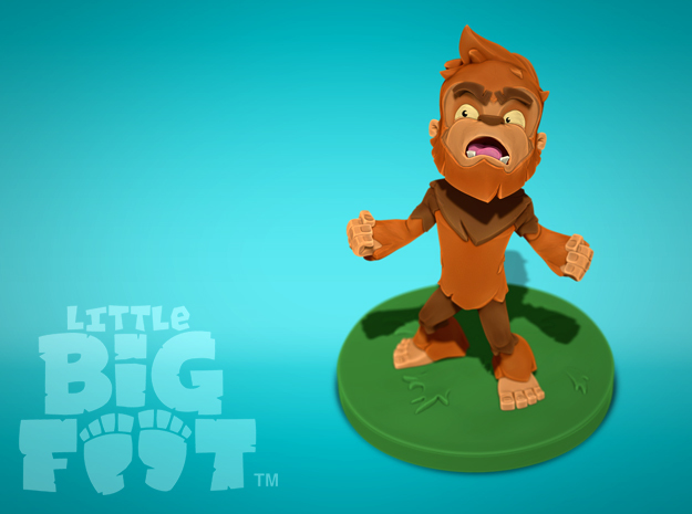 Little Bigfoot Yell Small in Full Color Sandstone
