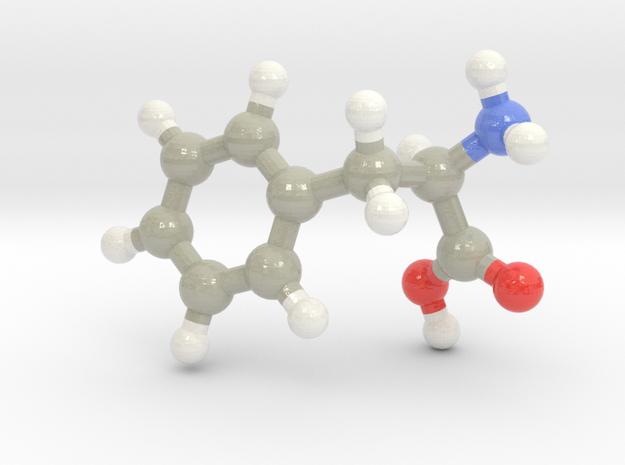 Phenylalanine (F) in Glossy Full Color Sandstone