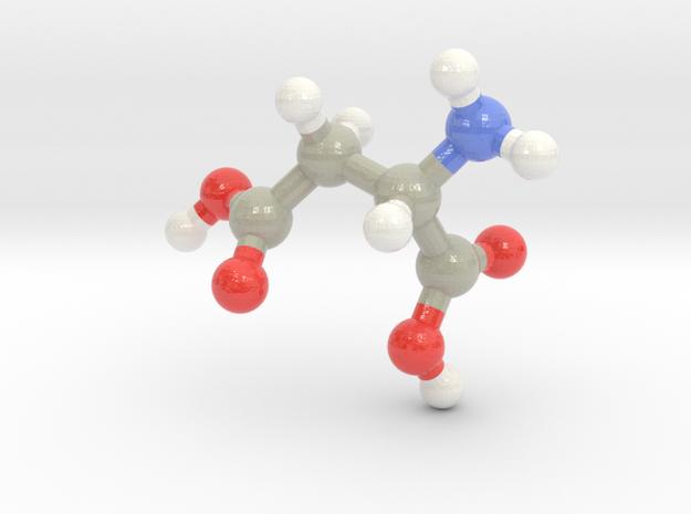 Aspartic Acid (D) in Glossy Full Color Sandstone