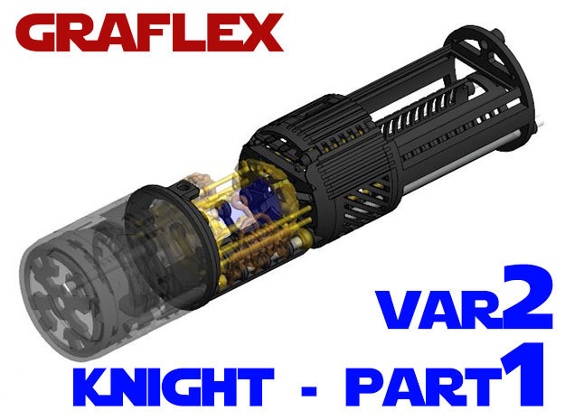 Graflex Knight Chassis - Variant 2 - Part 1 in White Strong & Flexible