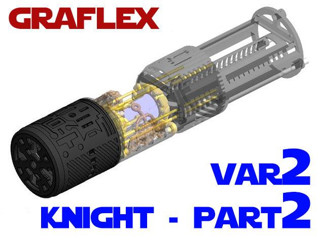 Graflex Knight Chassis - Variant 2 - Part 2 in White Natural Versatile Plastic