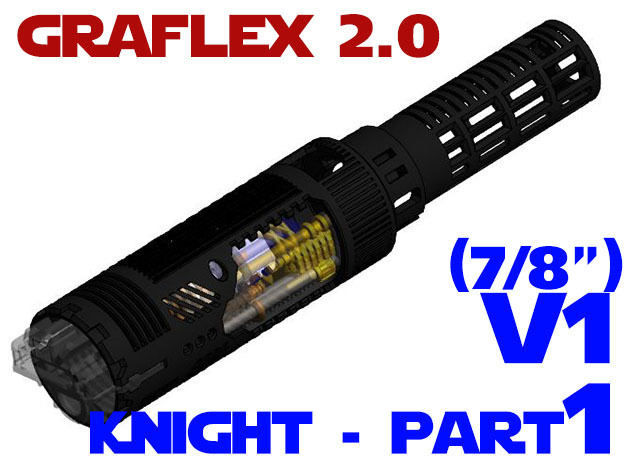 Graflex2.0 - Knight Chassis Part 1 V1 - Main shell in White Strong & Flexible