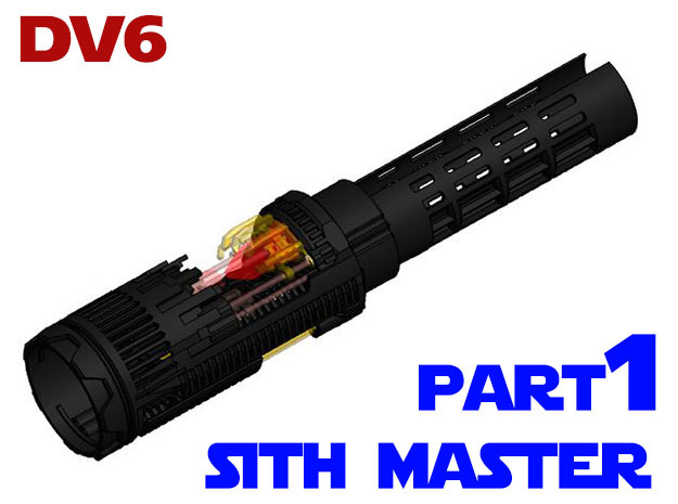Vader DV6 - Sith Master Chassis Part 1 Main in White Natural Versatile Plastic
