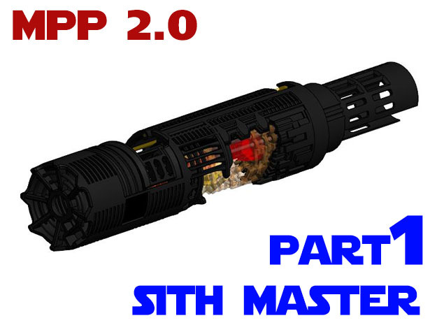 MPP2.0 Sith Master Chassis - Part1 Main Chassis in White Natural Versatile Plastic