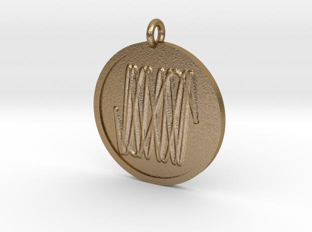 Harmonic Pendant in Polished Gold Steel