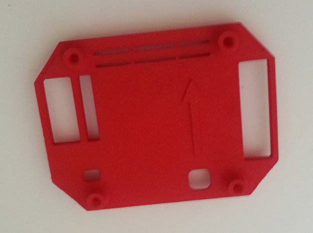Multi Wii 2.0 Pro Case v1.5 Top (RTFQ) in Red Processed Versatile Plastic