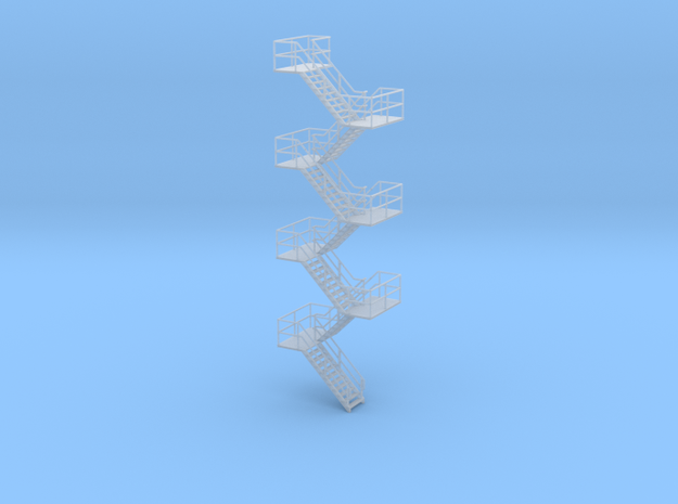 HO Staircase 150mm in Smooth Fine Detail Plastic