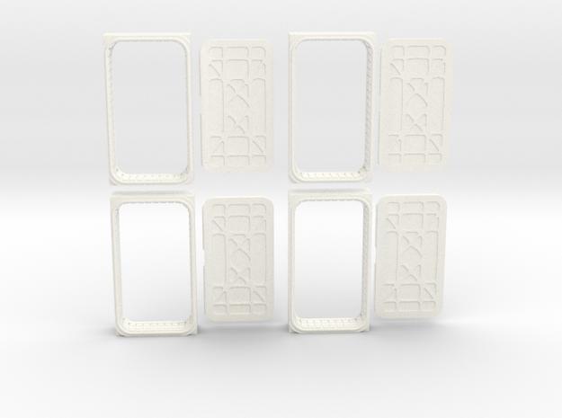 Docking Bay: Four Doors, 1:43 in White Processed Versatile Plastic