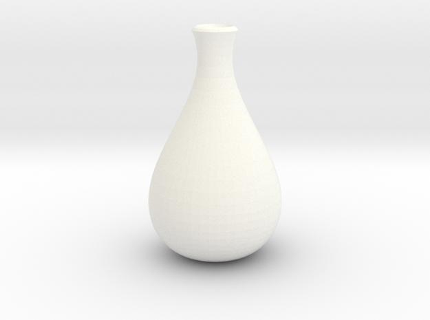 Slender Sake Bottle in White Processed Versatile Plastic