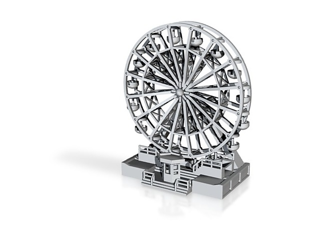 """Standmodell """"Riesenrad 18 m""""  1:160 (n scale) in White Natural Versatile Plastic"""