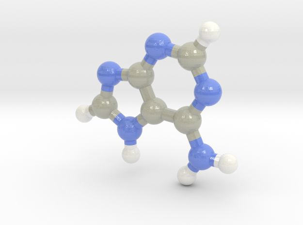 Adenine (A) in Glossy Full Color Sandstone