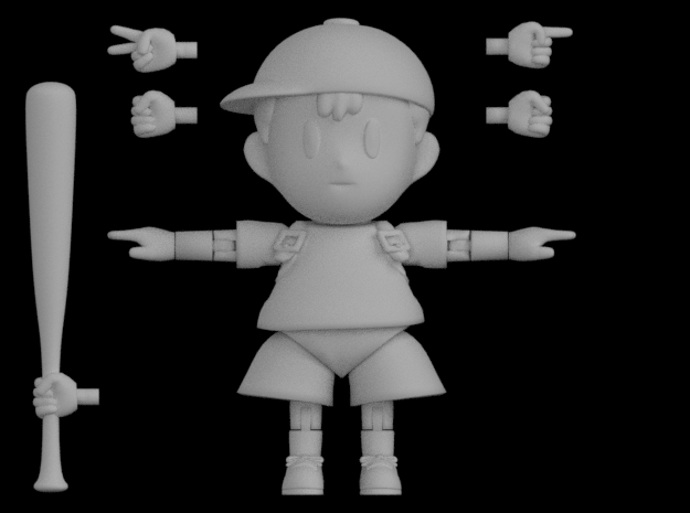 Ness Super Poseable Action Figure Kit Ver. 2