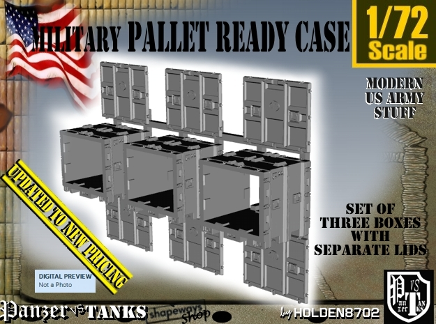 1/72 MM08 Pallet Ready Case Set001 in Frosted Ultra Detail