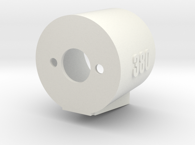 380 Motor Mount - 15% Angle Base in White Natural Versatile Plastic