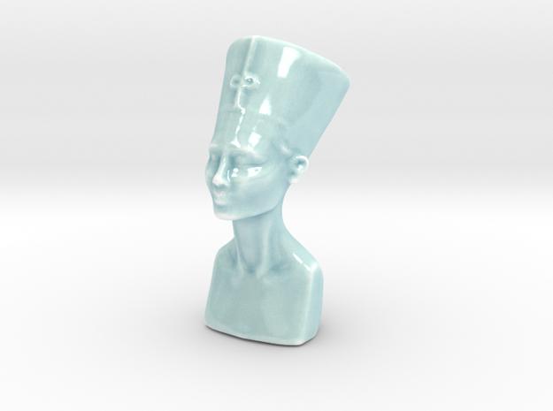 Bust of Nefertiti in Gloss Celadon Green Porcelain