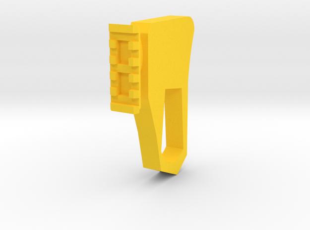 AR1 Shoulder Stock in Yellow Processed Versatile Plastic