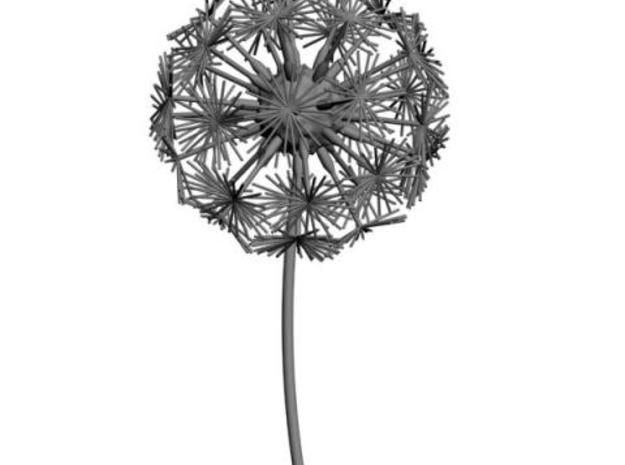 Dandelion abstract art piece 3d printed render