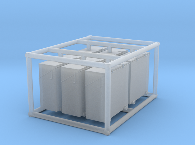 6 x 1/72 IJN Type 96 25mm ammo box tall in Frosted Ultra Detail