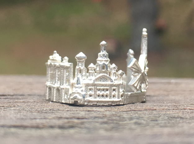 Sankt Petersburg Skyline - Cityscape Ring in Polished Silver: 9 / 59
