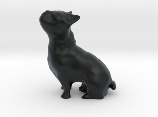 doggie-dog (bulldog) in Black Hi-Def Acrylate