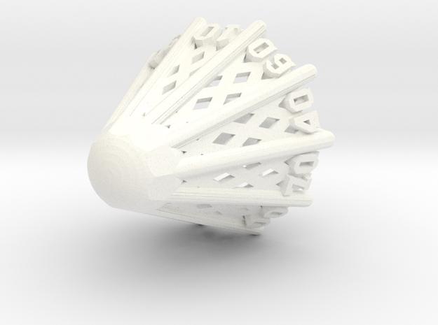 Badminton D00 in White Processed Versatile Plastic