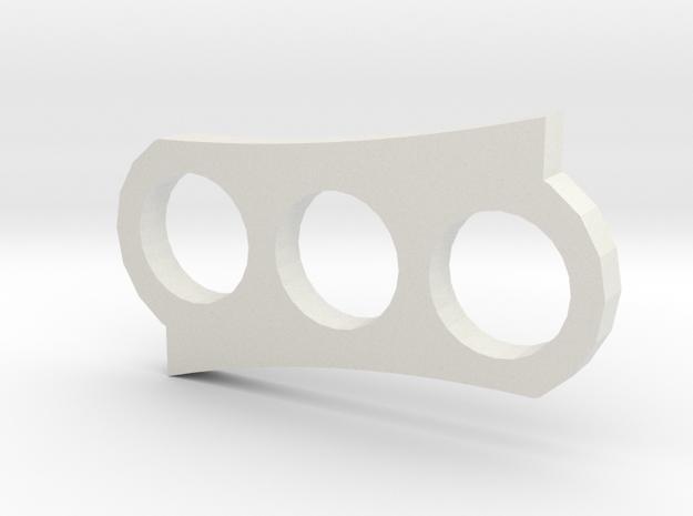 Spinner5 in White Natural Versatile Plastic
