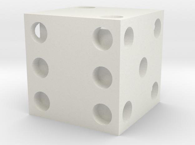 Dice in White Natural Versatile Plastic