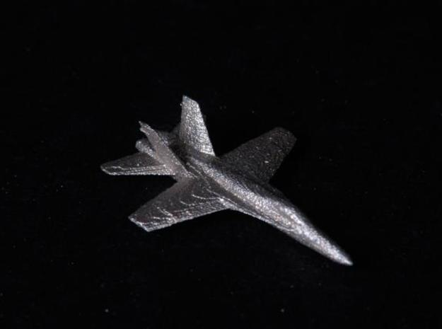 F18e Jet Aircraft - Monopoly Metal Model 3d printed Black Background