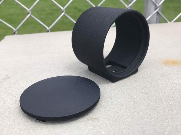 Cap for 60mm Single Enclosed Gauge Pod in Black Strong & Flexible