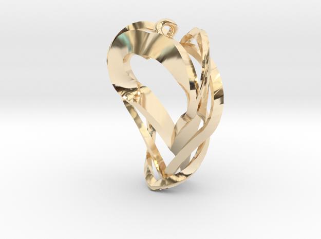 Triple Heart Pendant in 14k Gold Plated