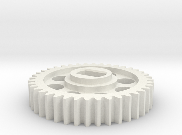 Rotastage Motor Gear in White Strong & Flexible