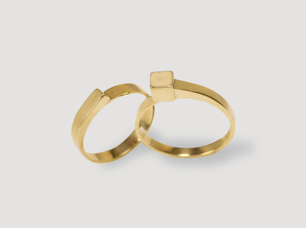Staccato Ring in 14k Gold Plated Brass: 6 / 51.5