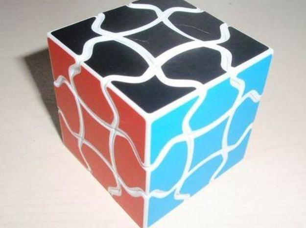 Fluffy Cube in White Strong & Flexible