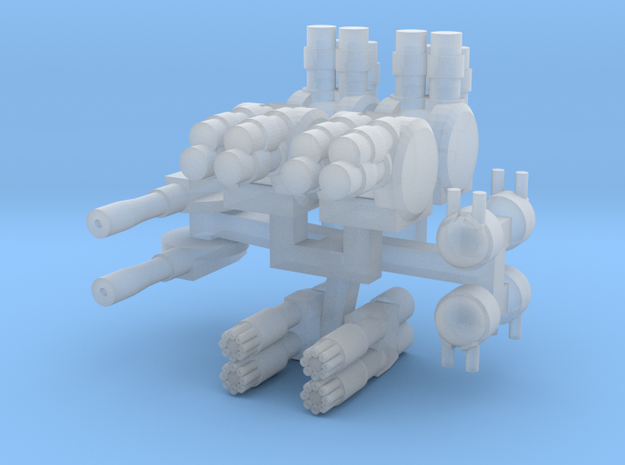 Turrets And Weapons Two in Smooth Fine Detail Plastic