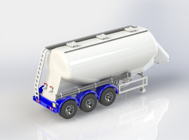 OO 1/76 Feldbinder Cement Flour Tanker - BR  3d printed CAD render. The printed model will require preparation before painting.
