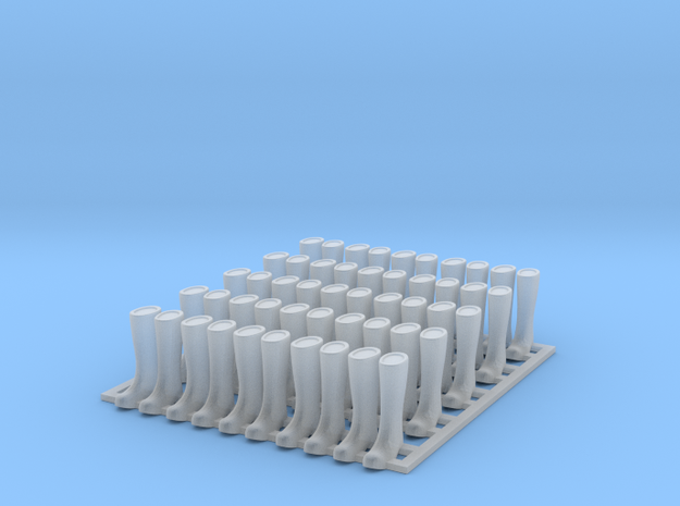 Rubber Boot 01. O Scale (1:43) in Smooth Fine Detail Plastic