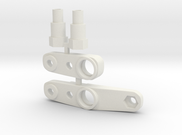 Tamiya Top Force J1, J8 and BM1 steering mounts in White Strong & Flexible