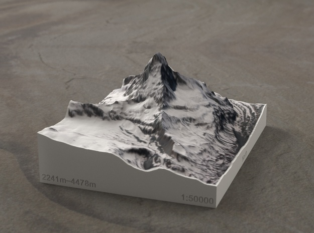Matterhorn, Switzerland/Italy, 1:50000 in Full Color Sandstone