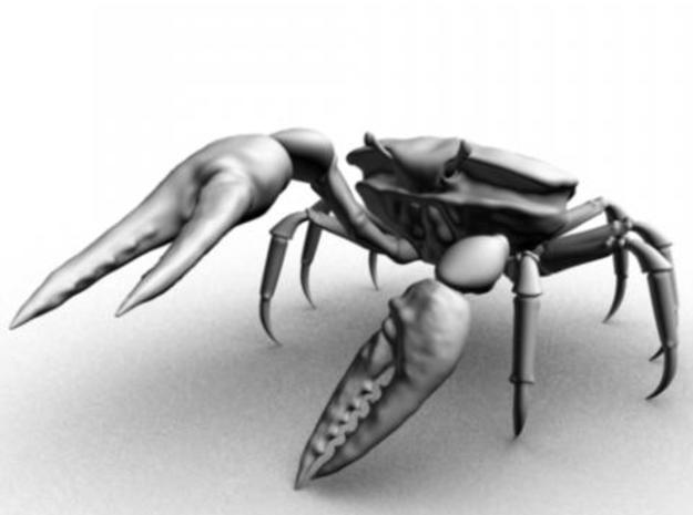 Fiddler Crab - Small 3d printed Maya render from front view.