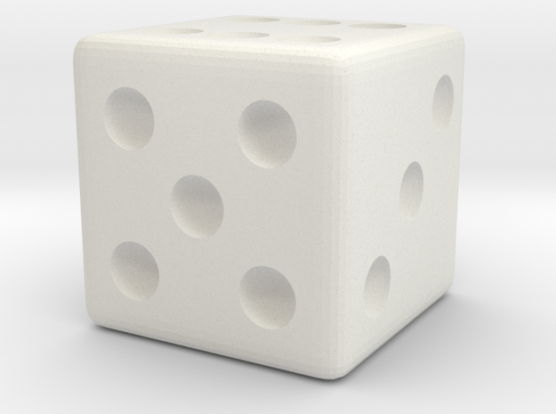 Weighted Dice (Favors a Roll of 6) in White Strong & Flexible