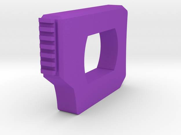 Roswell SciFi Sniper Shoulder Stock (Short) in Purple Processed Versatile Plastic