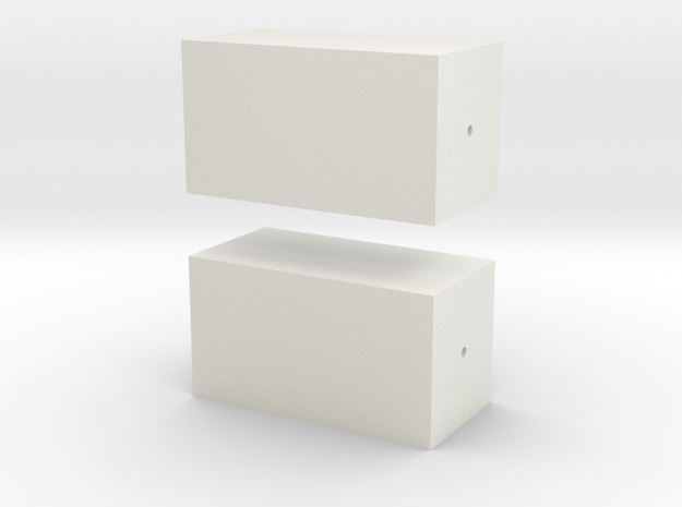 Salvas Mudboss Body Reinforcement and Repair Block in White Natural Versatile Plastic