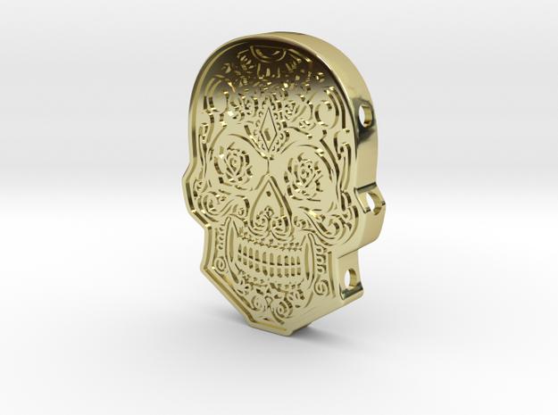 Skull Cuff in 18k Gold Plated Brass