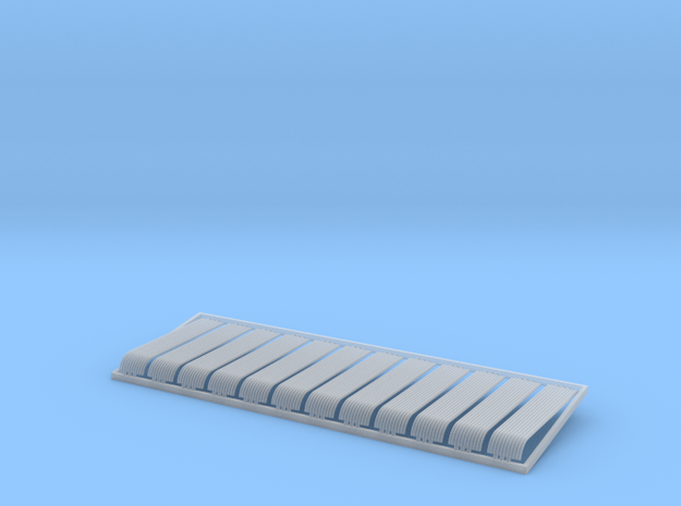 HO 12x10ft Bullnose Corrugated Iron Sheets in Smooth Fine Detail Plastic