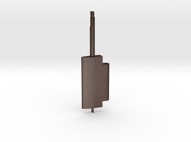 Flap Rudder (Main Blade) V03 1/100 in Matte Bronze Steel