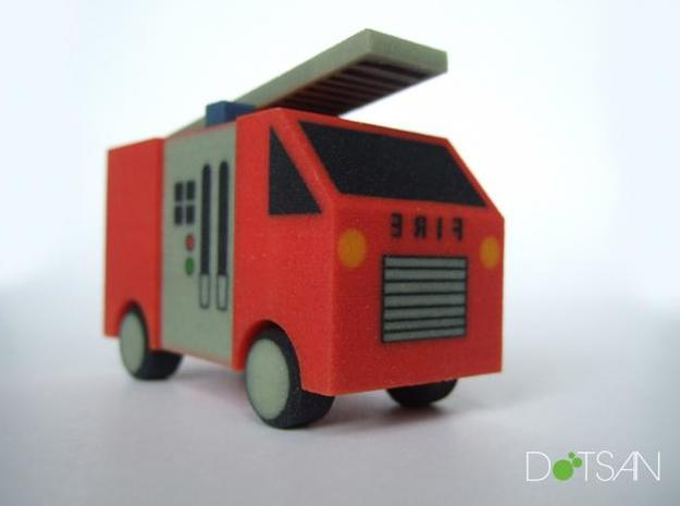 Fire Engine in Full Color Sandstone