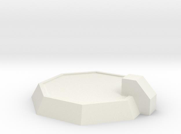 6mm Landing Pad in White Natural Versatile Plastic