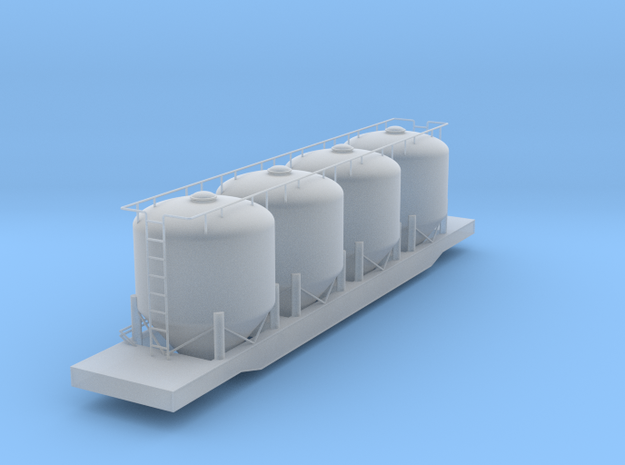 Closed Cylindrical Hopper Car - HOscale in Smooth Fine Detail Plastic